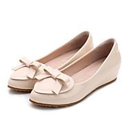hesapli -Kadın Ayakkabı Patentli Deri Bahar Rahat Mokasen & Bağcıksız Ayakkabılar Düz Taban Uyumluluk Günlük Bej Kırmzı Pembe