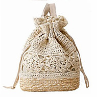 cheap Bags-Women's Bags Straw Shoulder Bag for Event/Party Casual Formal Office & Career Outdoor All Seasons White Beige Brown Dark Brown