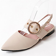 Women's Flats Spring Summer Fall Slingback Comfort Customized Materials Leatherette Office & Career Dress Casual Flat Heel Buckle