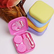 1 pc bolso mini contato lente caso viagem kit espelho recipiente alta qualidade bonito portátil
