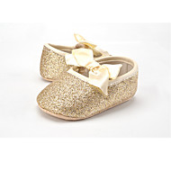 cheap Baby Shoes-Children's Baby Shoes Fabric Glitter Spring Fall First Walkers Flats Bowknot Gore for Wedding Casual Outdoor Party & Evening Dress Gold