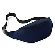 Unisexe Sacs Toutes les Saisons Polyester Sac Banane pour Sports Utilisation Professionnelle Bleu ciel Bleu de minuit Gris Violet Jaune