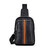 Man Tassen Alle seizoenen PU Sling Shoulder Bag voor Causaal Sport blauw Zwart Bruin