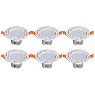 Alaspäin valaisevat LED-valaisimet Lämmin valkoinen Kylmä valkoinen LED 6 kpl