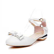 cheap Women's Heels-Women's Shoes Synthetic Leatherette PU Spring Summer Comfort Novelty Heels Walking Shoes Chunky Heel Round Toe Bowknot for Wedding Casual