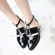 cheap Women's Heels-Women's Shoes Rubber Summer T-Strap Boots Low Heel for Casual Black