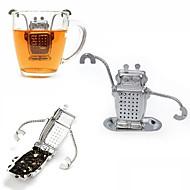 1pcs rustfritt stål søt robot te infuser produsent direkte resirkulerbare te strainer te verktøy