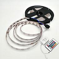 ZDM® 5m Conjuntos de Luzes 300 LEDs 1 controlador remoto de 24Keys RGB Impermeável Decorativa 12V 1conjunto