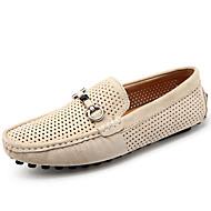 baratos Sapatos Masculinos-Homens Sapatos Confortáveis Couro de Porco Verão / Outono Casual Mocassins e Slip-Ons Cinzento / Azul / Khaki