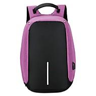 billige Computertasker-Unisex Tasker Nylon Laptoptaske Ensfarvet Sort / Grå / Lilla