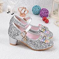 baratos Sapatos de Menina-Para Meninas Sapatos Couro Ecológico Primavera Verão Plataforma Básica Saltos Cristais / Laço para Prata / Azul