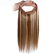 16inch Invisible Wire Flip In Human Hair Extensions one piece  Handband Extension 80g