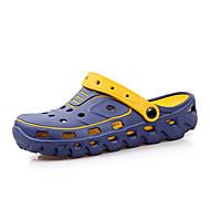 Masculino-Sandálias-Solados com Luzes Buraco Shoes-Rasteiro--Materiais Customizados-Ar-Livre Casual
