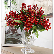 1 şube renkli akasya fasulye bitkiler masaüstü çiçek yapay çiçekler