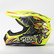 cheap -MEJIA Off-Road Motorcycle Racing Helmet Gloss Yellow Full Face Damping Durable Motorsport Helmet