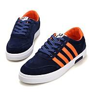 Erkek Ayakkabı Kumaş Bahar Yaz Sonbahar Kış Rahat Hafif Tabanlar Spor Ayakkabısı Yürüyüş Kurdele Bağcık Uyumluluk Günlük Beyaz Siyah Mavi
