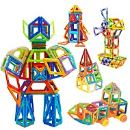 Magnetic Blocks Magnetic Tiles Building Blocks 98 pcs Car Robot Ferris Wheel compatible Legoing Magnetic Boys' Girls' Toy Gift