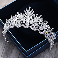 Krystal / Rhinsten / Legering Tiaras / Pandebånd / Hovedtøj med Blomster 1pc Bryllup / Speciel Lejlighed / udendørs Medaljon / Hair Pin