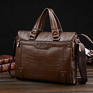 Men Bags Cowhide Shoulder Bag for Outdoor All Seasons Black Coffee