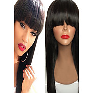 Premier Human Lace Wigs Lace Front Hair Wigs Full Lace or Glueless Full Lace Wigs In Natural Straight With Bang Brazilian Virgin Huamn Hair Lace Wigs