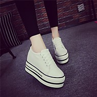 Women's Shoes PU Spring Fall Slingback Flats Chunky Heel For Casual White Black