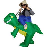 Ridning En Dinosaur Cosplay Kostumer Halloweentillbehör Maskerade Oppusteligt kostume Film Cosplay Grøn Trikot/Heldragtskostumer Mere