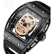 Homens Casal Relógio Elegante Relógio Esqueleto Relógio de Moda Relógio de Pulso Bracele Relógio Único Criativo relógio Relógio Casual