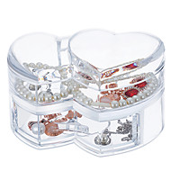 tanie Przechowywanie biżuterii-Włókienniczy Plastikowy Owalny Plast Podróżne Przezroczyste Dom Organizacja, 1szt Organizery na biurko Przechowywanie makijażu Pouzdra na