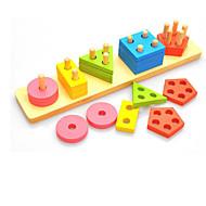 Stavební bloky Vzdělávací hračka Hračky Obdélníkový Kulatý Üçgen Pieces Děti Dárek
