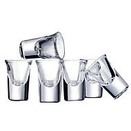 6pcs coloridas novidade drinkware 30 ml namorado dom presente namorada vidro cerveja suco vidro