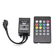 billige belysning Tilbehør-Supernight infrarød musikk kontroller 20 taster ir fjernkontroll lydsensor kontroller for 5050 3528 5630 rgb led stripe lett fleksibel