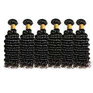 İnsan saç örgüleri Düz Brezilya Saçı Kıvırcık Kıvırcık Dalgalar 18 Ay saç örgüleri 0.3 kilogram Hızlı Dalgalar