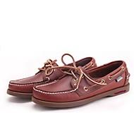 メンズ 靴 レザー 夏 コンフォートシューズ ローファー&スリップアドオン 用途 カジュアル ブラック Brown グリーン