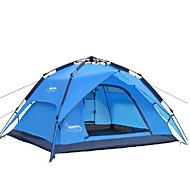 DesertFox® 4 person udendørs Telt Vandtæt Regn-sikker Et Værelse Dobbelt Lagdelt 2000-3000 mm Camping Telt til Camping Oxford 200*180*130 cm