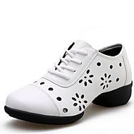 baratos Sapatilhas de Dança-Mulheres Tênis de Dança Courino Têni Salto Baixo Não Personalizável Sapatos de Dança Branco