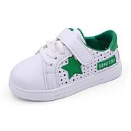 Genç Erkek Spor Ayakkabısı Yürüyüş Rahat Geniş Bantlı PU Bahar Yaz Atletik Günlük Bağcıklı Sihirli Bant Düz TopukSiyah/Beyaz