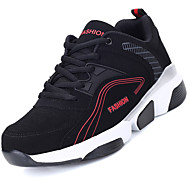 Men's Athletic Shoes Comfort Tulle Spring Summer Outdoor Running Comfort Lace-up Flat Heel Black/White Black/Red Black/Green Under 1in