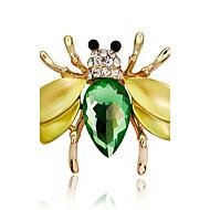 hesapli -Kadın's Genç Kız Broşlar Kişiselleştirilmiş Hayvan Tasarımı Euramerican Moda Yapay Elmas alaşım Hayvan Altın Siyah/Mavi Mücevher Uyumluluk