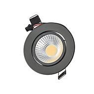 baratos Luzes LED de Encaixe-3W 250lm 2G11 Downlight de LED Encaixe Embutido 1 Contas LED COB Regulável / Decorativa Branco Quente / Branco Frio 110-130V / 220-240V