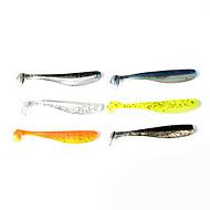 billiga Fiske-12 st Mjukt bete Fiskbete shad Mjukt bete Mjuk plast Sjöfiske Spinnfiske Jiggfiske Färskvatten Fiske Generellt fiske Drag-fiske
