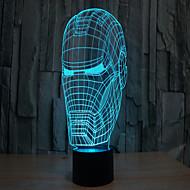 Homem de ferro 3 d lâmpada de projeção levou acrílico toque visual luz