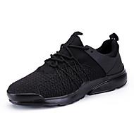 Sneakers-Tyl-Komfort-Herrer-Hvid Sort Sort/Hvid-Udendørs Fritid Sport-Flad hæl