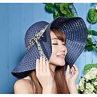 Per donna Da serata / Vacanze Cappello di paglia / Cappello da sole Tinta unita / Romantico