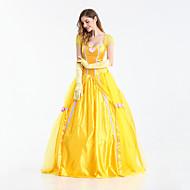 Prenses Peri Masalı / Bajka Belle Elbiseler Kadın's Genç Kız Film Kostümleri Sarı Elbise Eldivenler Cadılar Bayramı Karnaval Yeni Yıl Terylene
