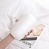 お買い得  クラッチバッグ&イブニングバッグ-女性用 バッグ PU イブニングバッグ クリスタル / ラインストーン ブラック / シルバー / ピンク