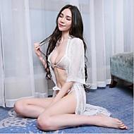 Žene Čipkasto donje rublje Ultra seksi Noćno rublje Jednobojni - Srednje Spandex Čipka Obala