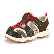 Недорогие -Мальчики Сандалии Удобная обувь Полиуретан Лето Удобная обувь На плоской подошве Военно-зеленный Синий Розовый На плоской подошве