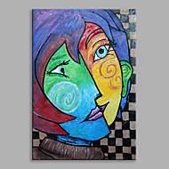 מצויר ביד אנשים מאונך,קלאסי פנל אחד בד ציור שמן צבוע-Hang For קישוט הבית