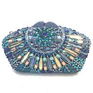 Vrouw Tassen Alle seizoenen PU Metaal Clutch Kristal/Strass voor Bruiloft Evenement/Feest Formeel blauw Goud Zwart Zilver