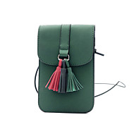 cheap Bags-Women Bags PU Mobile Phone Bag for Casual Outdoor All Seasons Green Black Red Gray